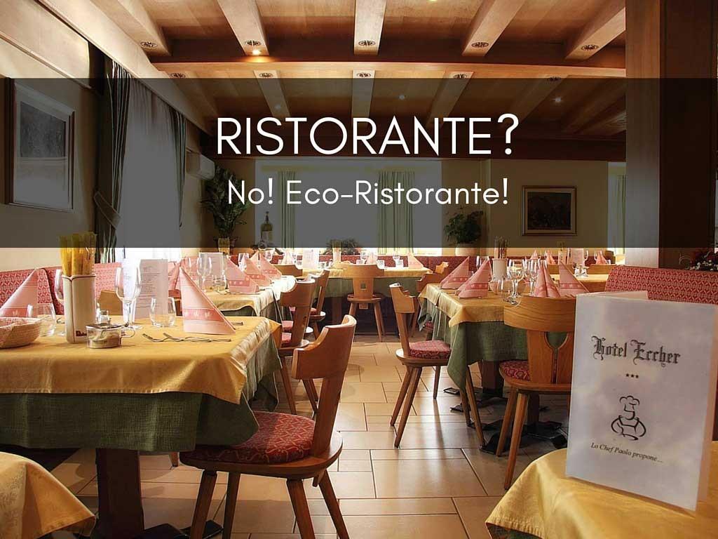 Eco-ristorante, un menù a km zero